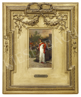 Kéméndy Jenő - Fiatal nő kastélyparkban, 1891