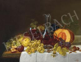 Molnár, József - Still-Life with Red Wine, 1875