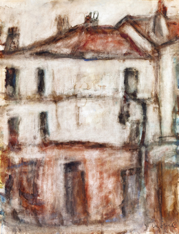 Czóbel Béla - Párizsi házak, 1925 körül