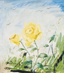 Rudnay Gyula - Különleges nézőpont (Kék égre pillantva, sárga rózsa), 1932