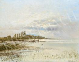 Mesterházy Kálmán - Fények a Balaton felett (Horgászfiú a Balatonnál), 1895