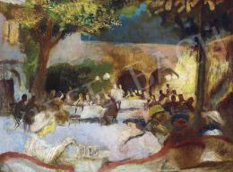 Szőnyi István - Vacsorázók (A Fészek Klub udvara), 1935 körül