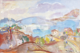 Márffy, Ödön - Landscape by Lake Balaton, late 1920s