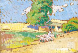 Rippl-Rónai József - Szikrázó napsütésben, 1910-es évek