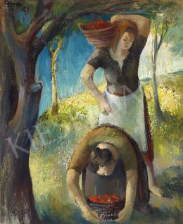 Gyarmathy Tihamér - Gyümölcsszedők, 1930-as évek vége