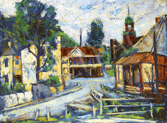 Orbán Dezső - Kisváros főtere, 1952   54. Téli aukció aukció / 170 tétel