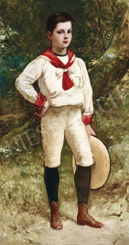 Lotz Károly - Nemes úrfi a parkban
