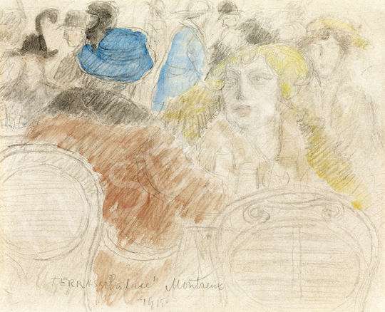 Rippl-Rónai József - Montreux kávéház, 1915 | 54. Téli aukció aukció / 184 tétel