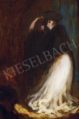 Vaszary János - Színpadon (Táncosnő), 1905