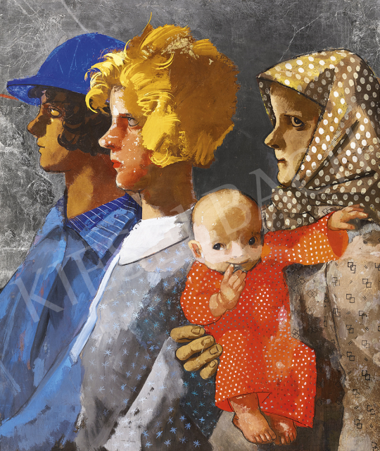 Aba-Novák, Vilmos - Generations (Family), 1930s | 54th Winter auction auction / 191 Item