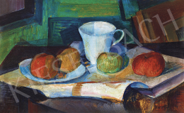 Kmetty, János - Still-Life with Cup and Apples