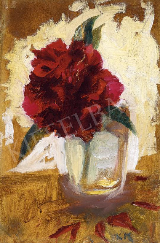 Kernstok Károly - Pünkösdi rózsa pohárban | 54. Téli aukció aukció / 203 tétel