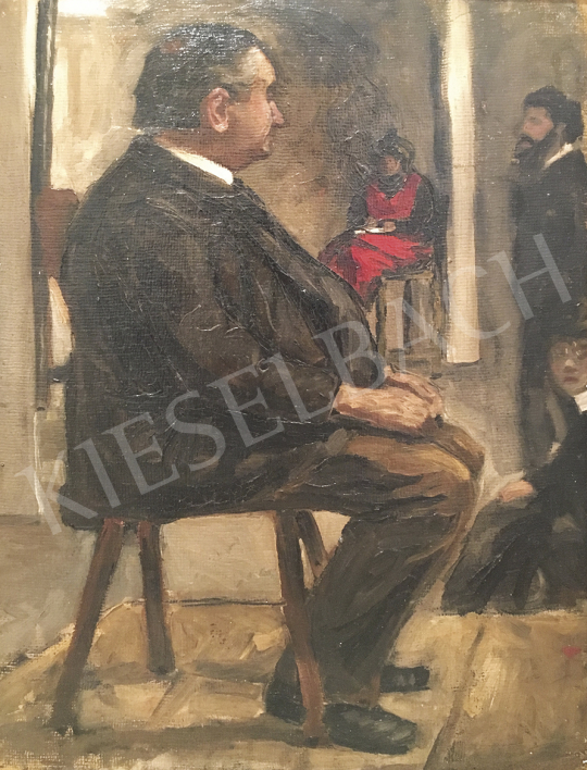 Huszár Vilmos - Műteremben, 1905 | 54. Téli aukció aukció / 206 tétel