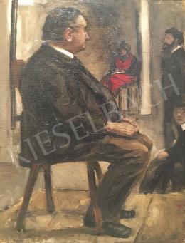 Huszár Vilmos - Műteremben, 1905