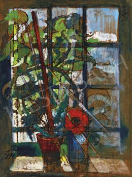 Remsey Jenő György - Csendélet ablakkal (Napfény), 1971