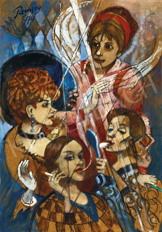 Remsey Jenő György - A színésznő négy arca (Ruttkay Éva), 1974 | 54. Téli aukció aukció / 29 tétel
