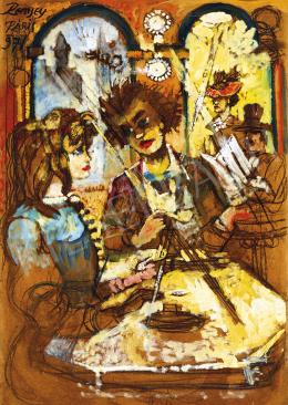 Remsey Jenő György - Párizsi kávézóban, 1971
