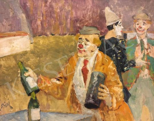 Eladó Biai-Föglein István - Bohóc festménye