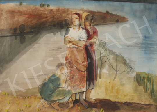 For sale  Szőnyi, István - Women on the Riverside 's painting