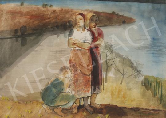 Eladó  Szőnyi István - Asszonyok a folyóparton festménye