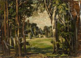 Ismeretlen magyar festő, 1925 körül - Tisztás fákkal