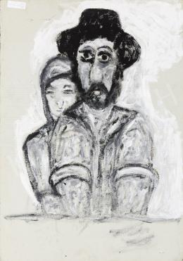 Dilinkó Gábor - Férfi feleségével; hátoldalon: Férfi feleségével