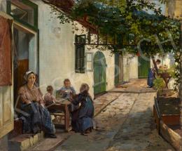 Szenes Fülöp - Napsütéses udvar