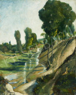 Karassy Györgyné - Táj patakkal, 1932