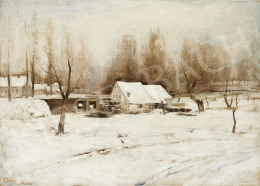 Unknown painter with a sign of Rácz K. - Winter Landscape, 1942