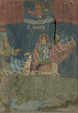 Ismeretlen magyar festő, 1900 körül - Sárkányölő Szent György