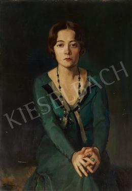 Ismeretlen magyar festő Somogyi jelzéssel, 1935 körül - Zöldköves gyűrű