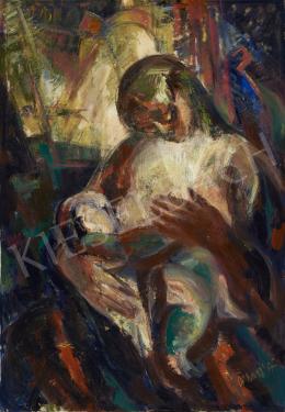 Ismeretlen festő G. Nagy Á. Jelzéssel, 1965 körül - Nagvárosi anya