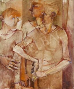 Ismeretlen magyar festő, 1975 körül - Baráti társaság