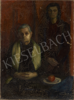 Unknown Hungarian painter, c. 1940 - The Red Apple (Mother with Child)