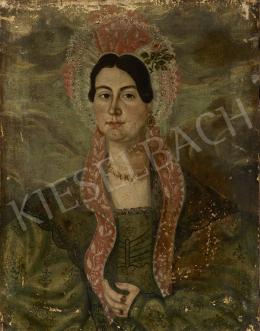 Ismeretlen magyar festő, 1845 körül - Főkötős nő