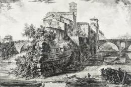 Givanni Battista Piranesi után - A Tiberis-sziget Rómában