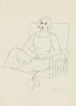 Bortnyik Sándor - Ülő nő, 1928