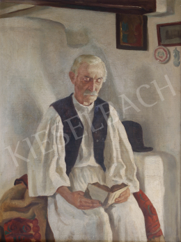 Unknown painter - Reading Man in a Folk Costume
