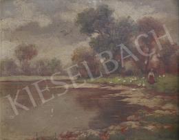 Ismeretlen festő, 1930 körül - Folyóparton
