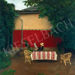 Ferenczy Károly - A vörös fal IV., 1910