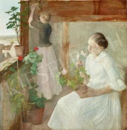 Ferenczy Károly - Leányok virágokat gondoznak, 1889