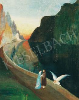 Csontváry Kosztka Tivadar - A szerelmesek találkozása (Randevú), 1902 körül