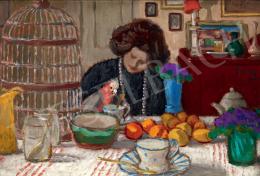 Rippl-Rónai József - Lazarine papagájjal, 1905