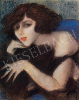 Rippl-Rónai József - Zorka kék fotelben, 1919