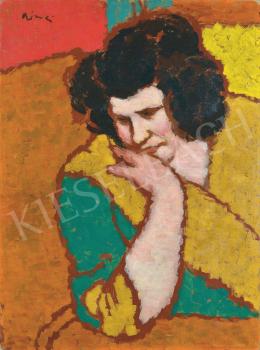 Rippl-Rónai József - Könyöklő Lazarine, 1912