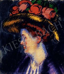 Vaszary János - Színek kékben (A művész felesége), 1911