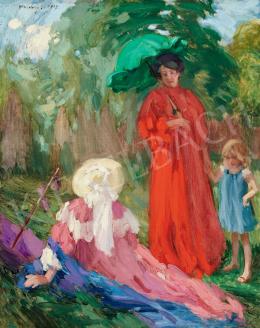 Vaszary János - Séta a parkban, 1907