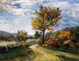 Kernstok, Károly - Autumn Landscape in Nagymaros