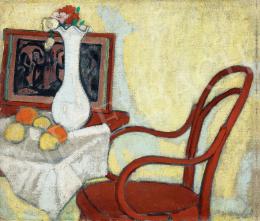Galimberti Sándor - Enteriőr Thonet-székkel, 1908 körül