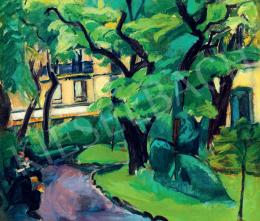 Dénes Valéria - Párizsi részlet (Cluny park), 1910-es évek eleje